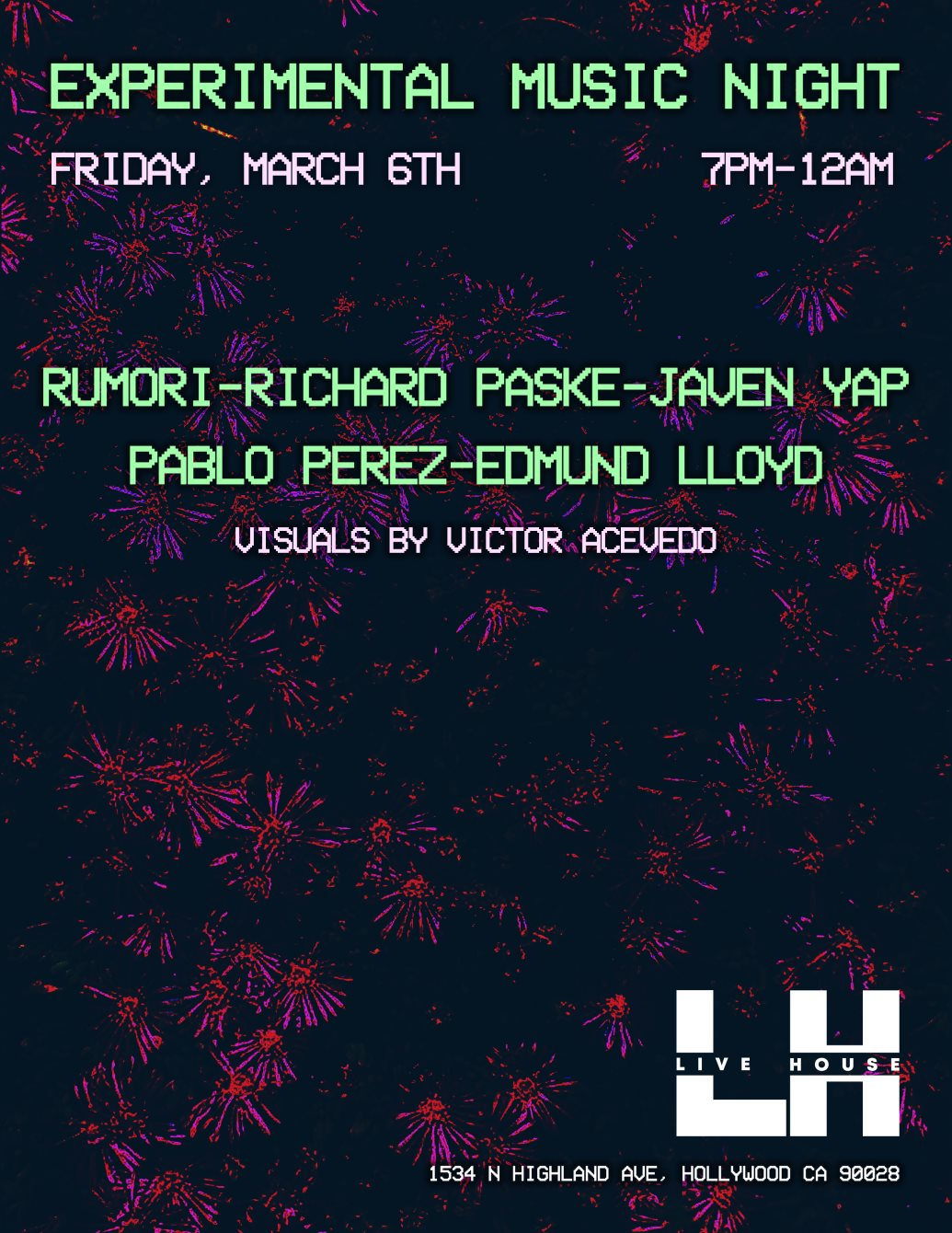 Ra Experimental Music Night At Live House Hollywood Los Angeles