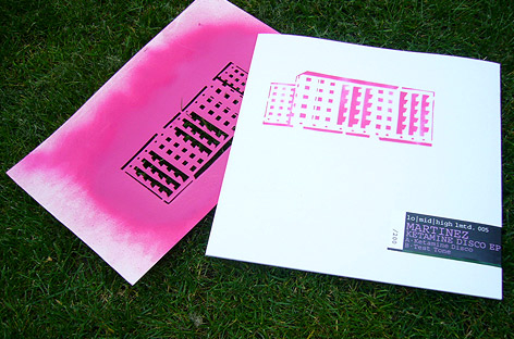lomidhigh pink stencil on grass