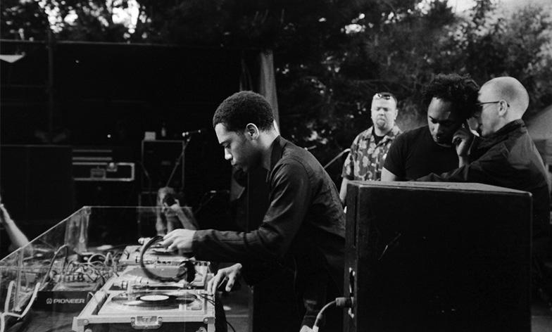 Carl, Derrick, Richie Hawtin at DEMF 2000