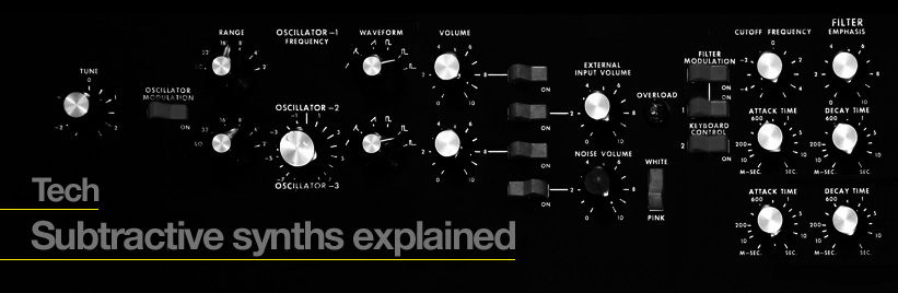 Subtractive synths explained