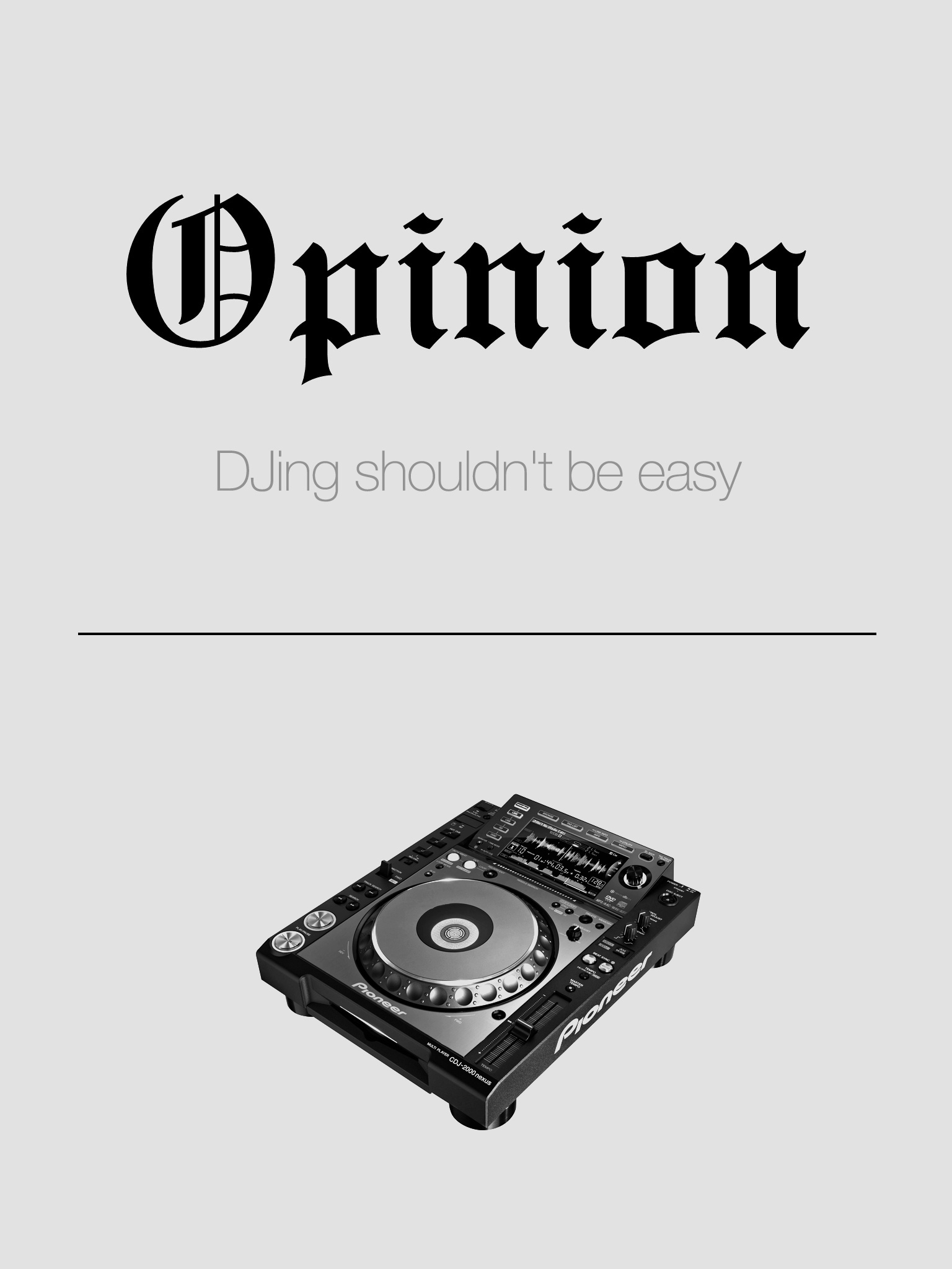 RA: Opinion: DJing shouldn't be easy