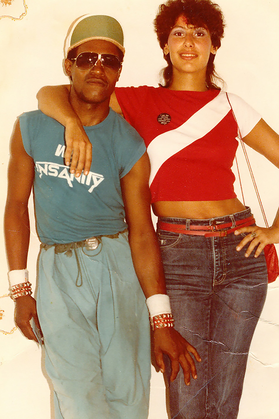 "Louis ""Loose"" Kee Jr. and Roxana Tash preparing to go to a party at the Prince Street Loft in 1982."