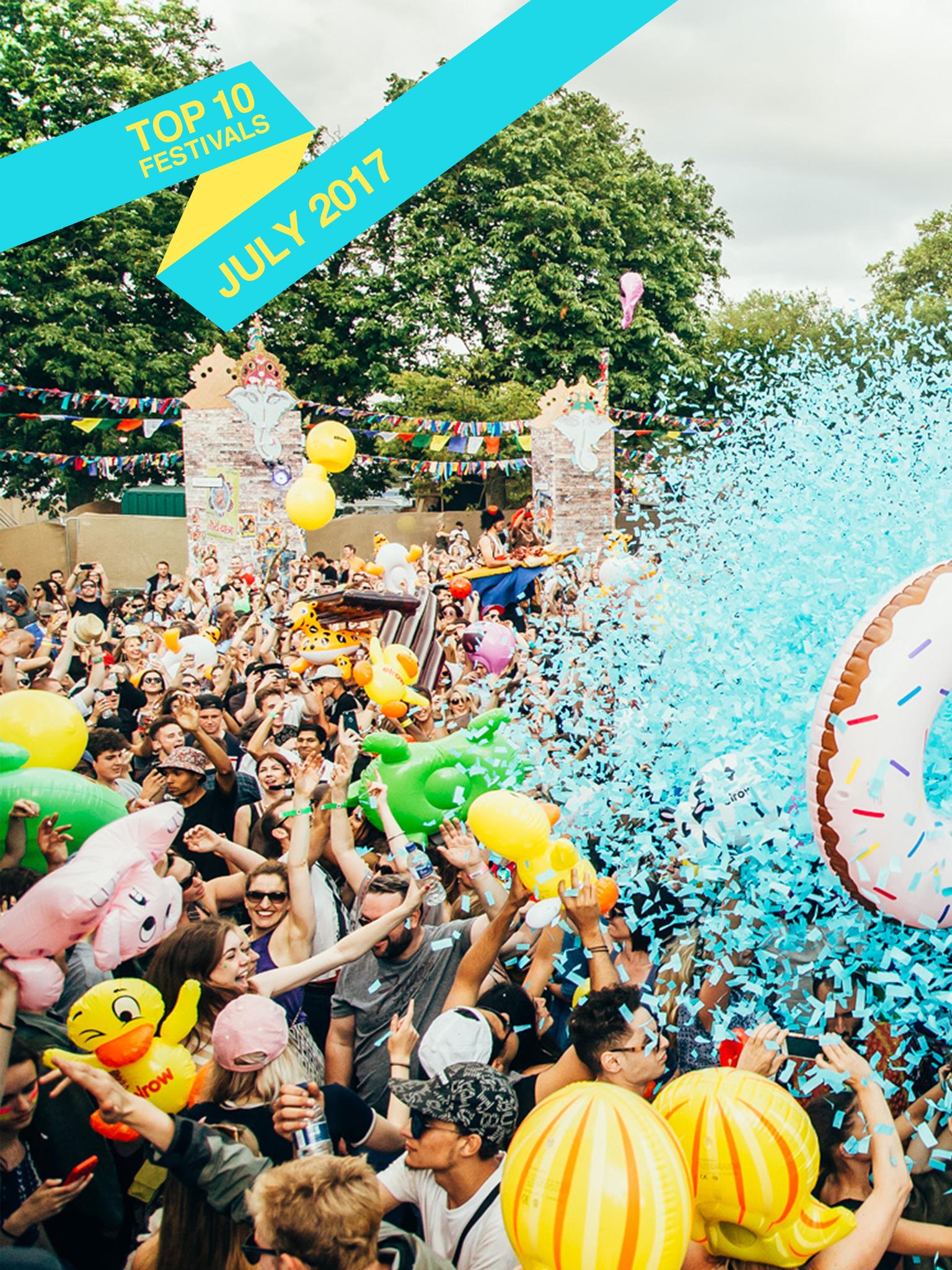 Top 10 July 2017 Festivals