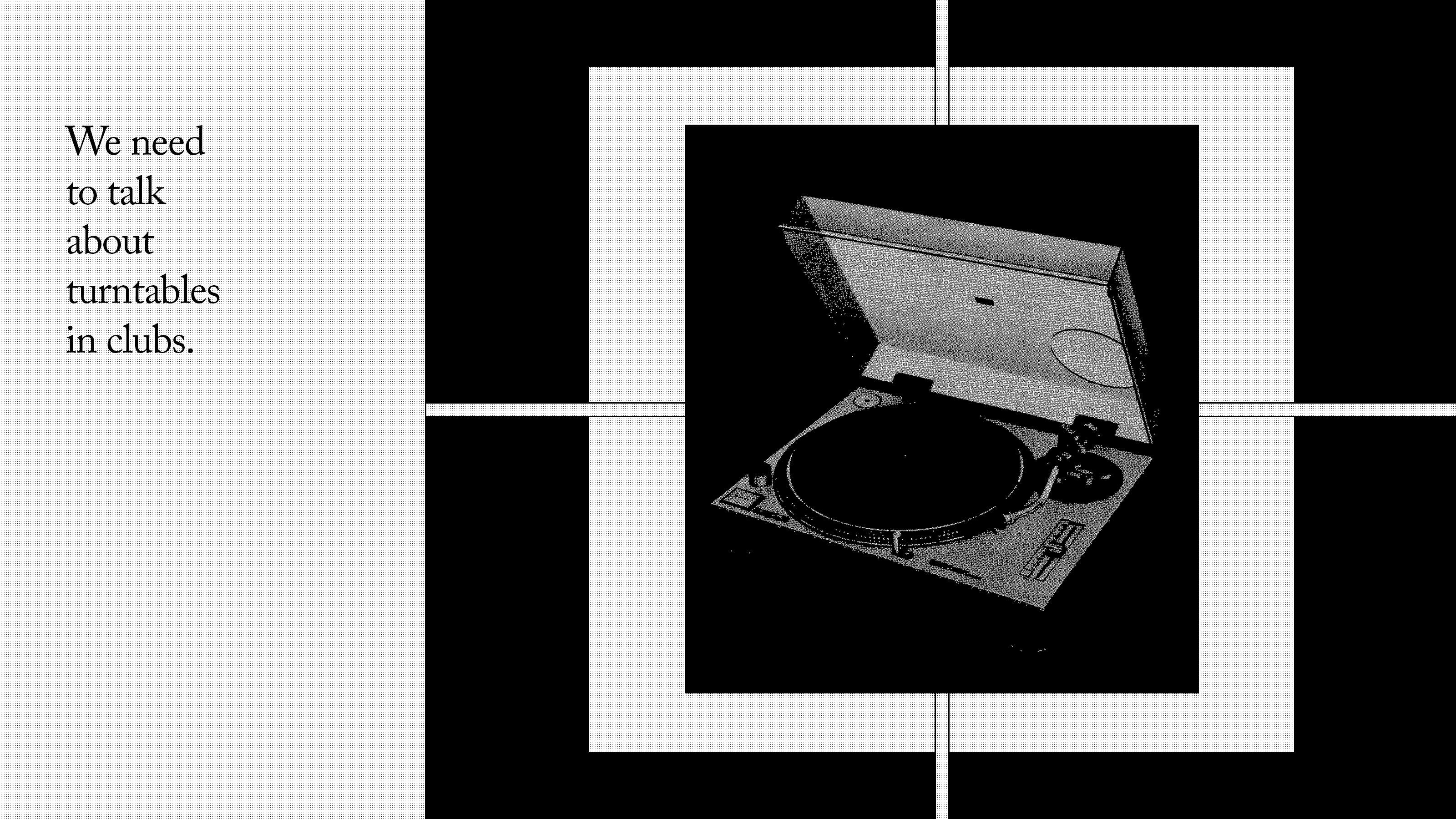 We need to talk about turntables in clubs