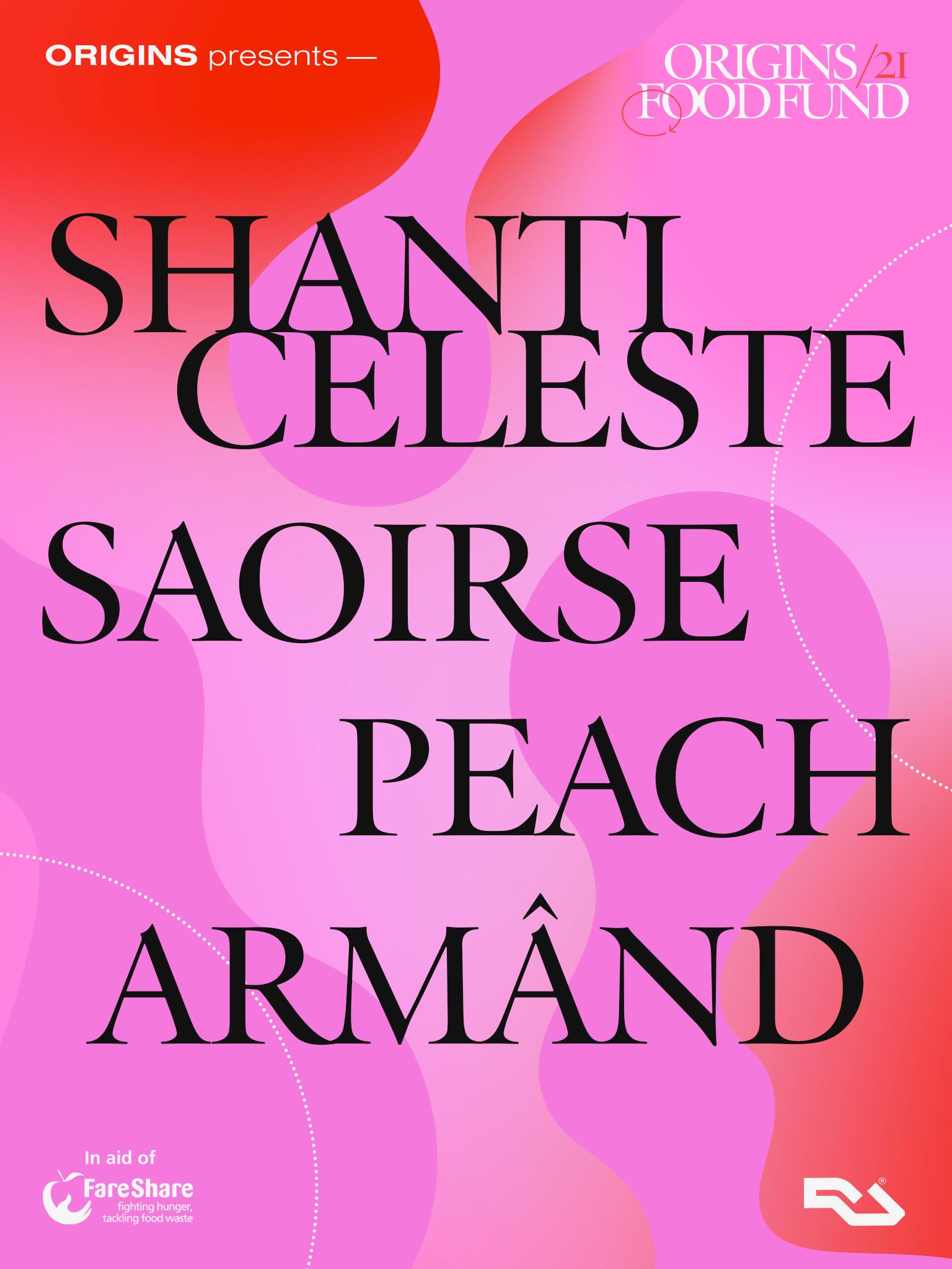 ORIGINS Food Fund Stream: Armând, Saoirse, Shanti Celeste and Peach.