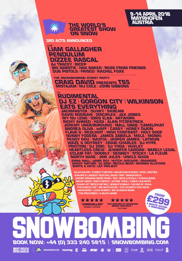 RA: Snowbombing adds more names to 2018 lineup - Feed