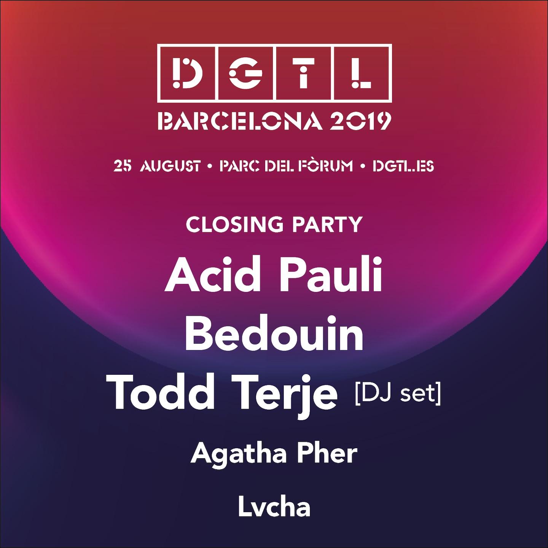 DGTL Barcelona reveals closing party lineup for 2019