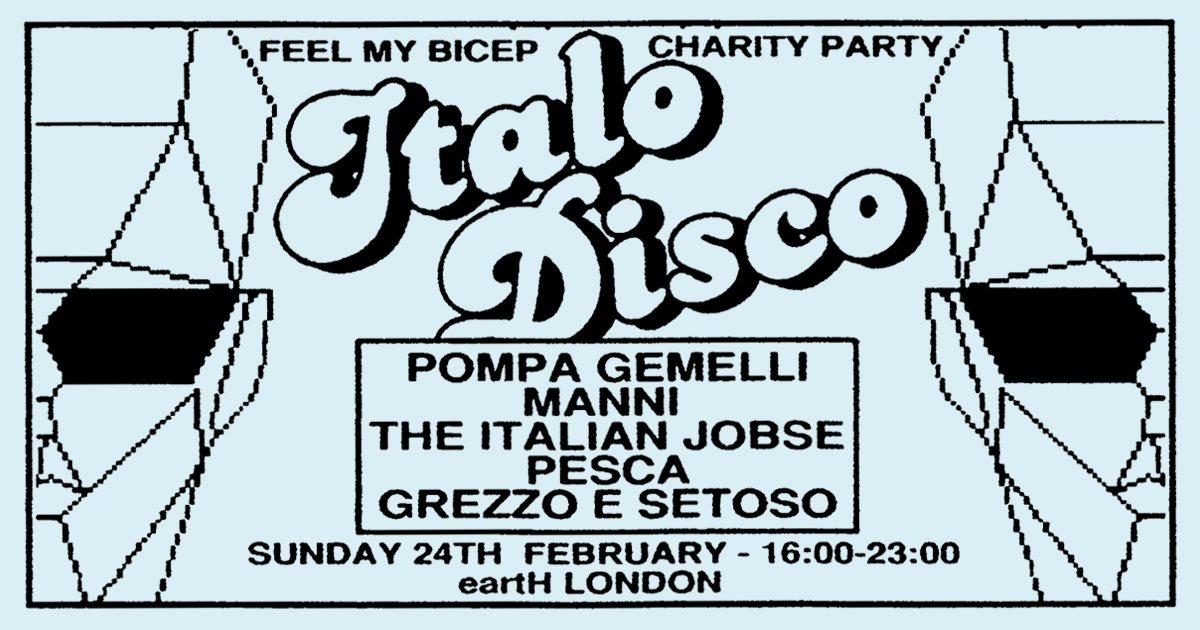 RA: Feel My Bicep presents Italo disco-themed fundraiser at