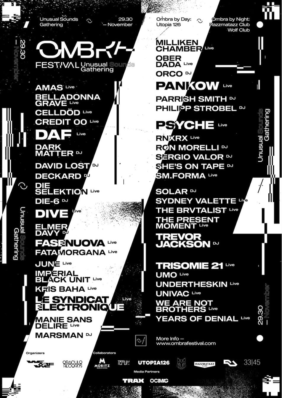 Barcelona's Ombra Festival finalises 2019 lineup with DAF, Trevor Jackson