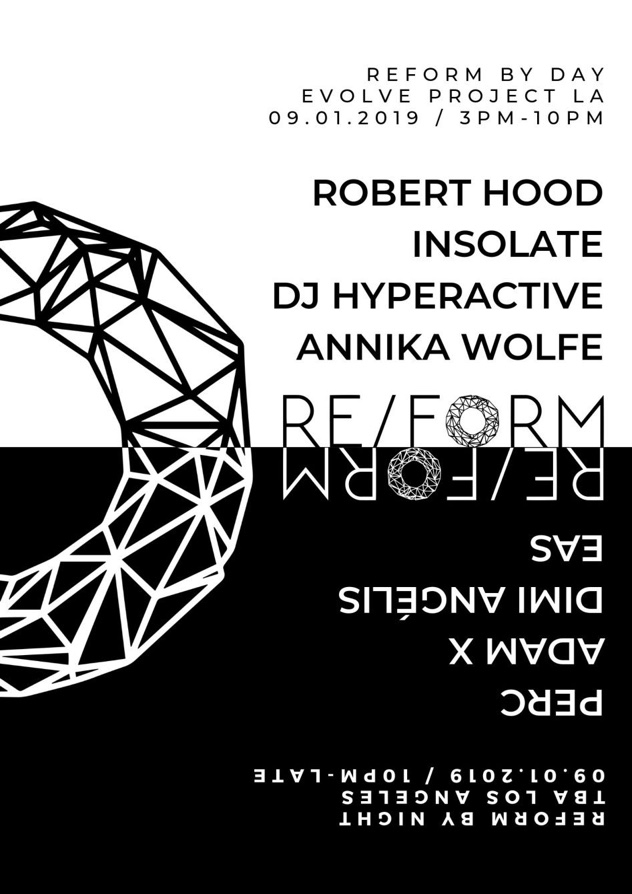 Robert Hood, Adam X to play REFORM, a new day-into-night party in LA