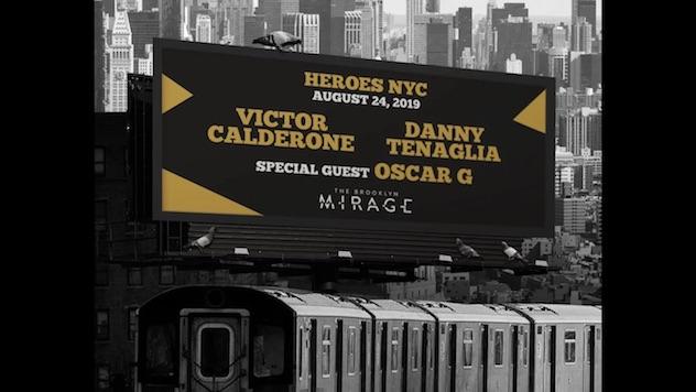 Victor Calderone and Danny Tenaglia share a bill at Brooklyn Mirage