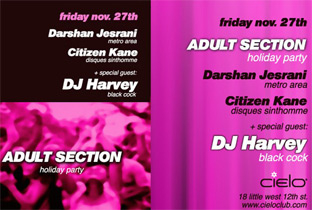 DJ Harvey headlines Adult Section