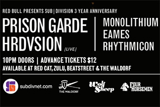 Sub|division celebrate three years with Hrdvsion