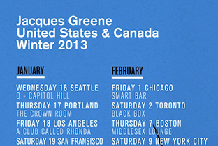 Jacques Greene announces winter North American tour