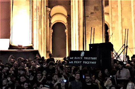 RA News: Tbilisi club community stages protest rave at