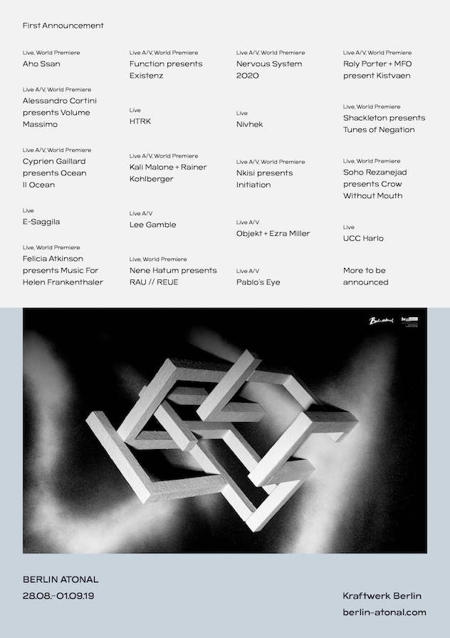 RA News: Berlin Atonal reveals first wave of artists for 2019