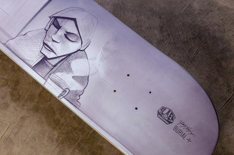 Hyperdub collaborates with skateboarder Yaje Popson on Burial-themed skateboard
