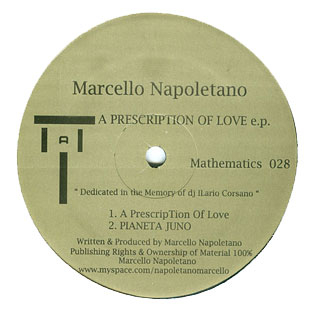 Marcello Napoletano - A Prescription of Love EP