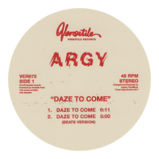Argy - Daze to Come EP