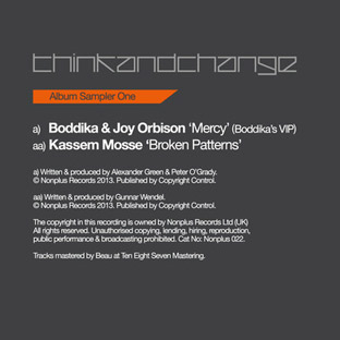 Boddika & Joy Orbison / Kassem Mosse - Think and Change Album Sampler One