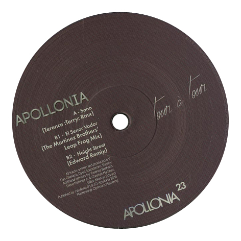 Apollonia - Tour Á Tour: The Remixes (EP2)
