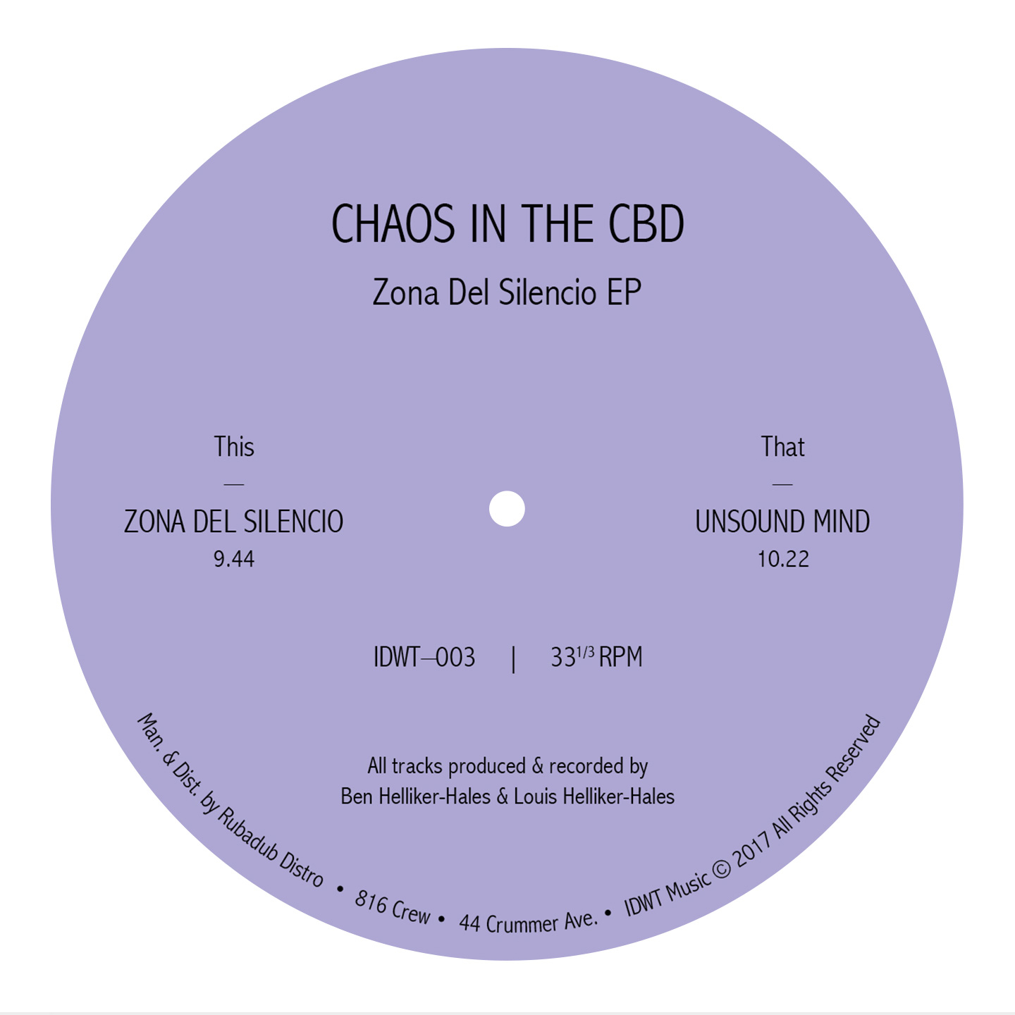 Chaos In The CBD - Zona Del Silencio EP
